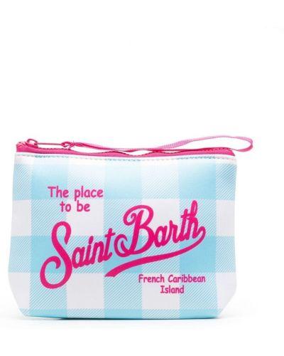 Синий клатч на молнии в клетку Mc2 Saint Barth Kids