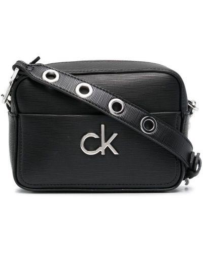 Сумка через плечо серебристая - черная Calvin Klein