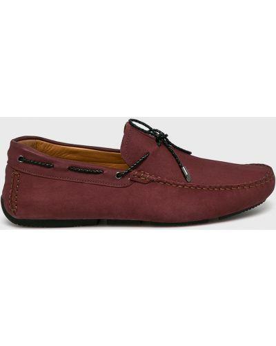 Кожаные туфли красные бордовый Conhpol