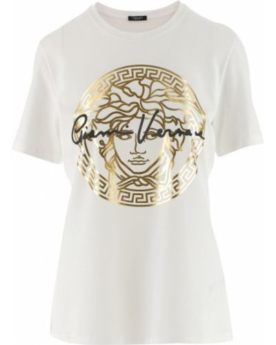 Złoty t-shirt Versace
