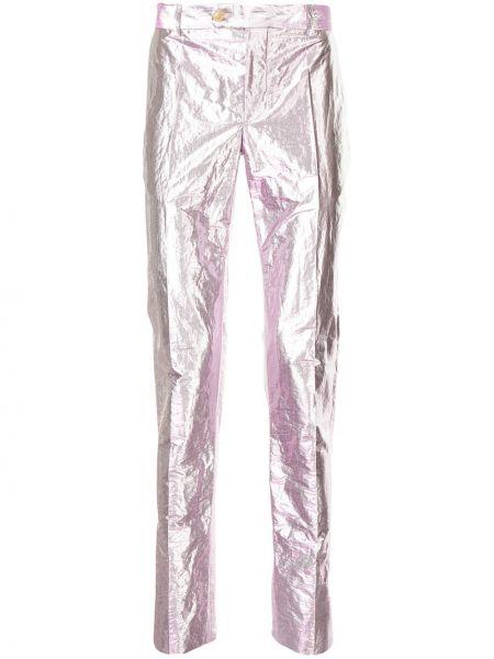 Розовые брюки с поясом на пуговицах Walter Van Beirendonck Pre-owned