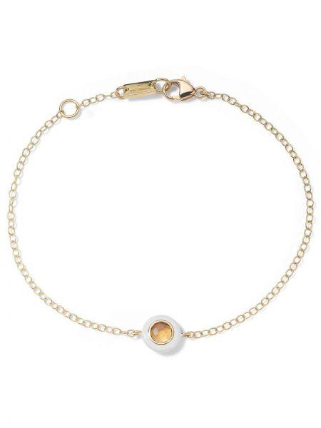 Żółta ażurowa złota bransoletka łańcuch Ippolita