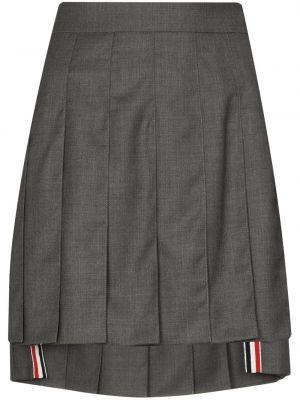 Шерстяная юбка мини - серая Thom Browne