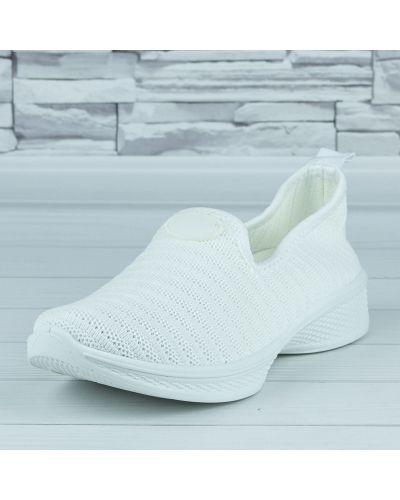Текстильные слипоны - белые Violeta