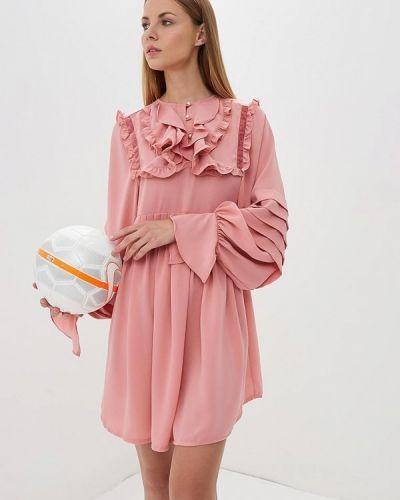 Розовое платье с длинными рукавами Sister Jane
