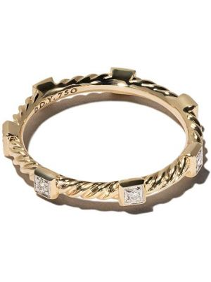 Кольцо с бриллиантом - желтое David Yurman