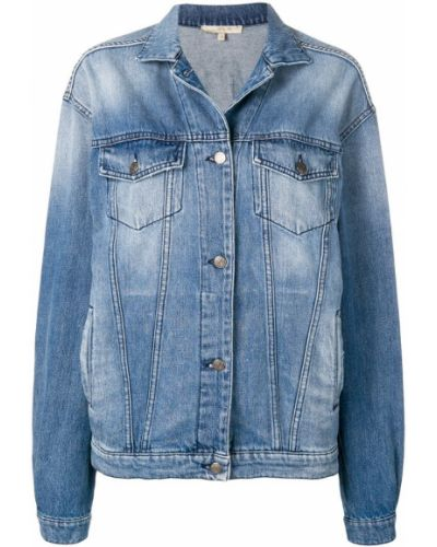 Синяя джинсовая куртка свободного кроя на пуговицах Amen