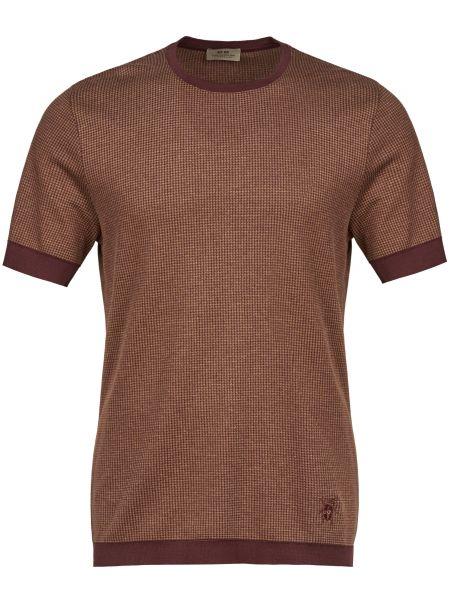 Хлопковая футболка - коричневая Corneliani