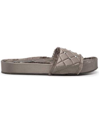 Серые кожаные сандалии Pedro García