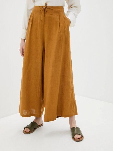 Коричневые расклешенные свободные брюки D`imma