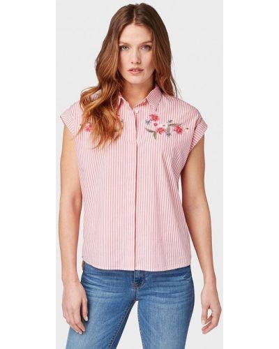 Рубашка с коротким рукавом индийский красный Tom Tailor