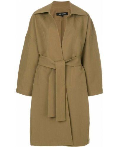 Коричневое пальто с поясом Ter Et Bantine