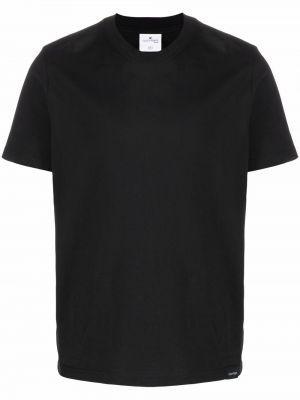 Czarna t-shirt z haftem Courreges