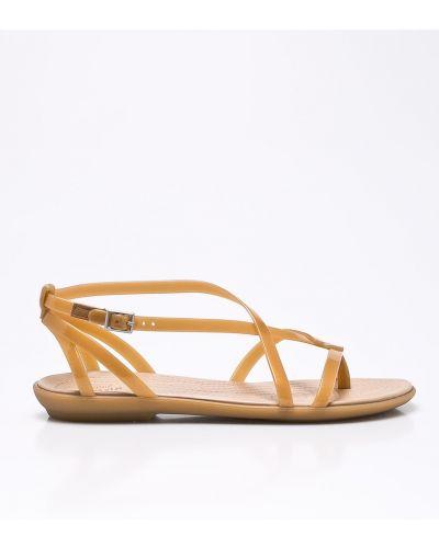 Бежевые сандалии Crocs
