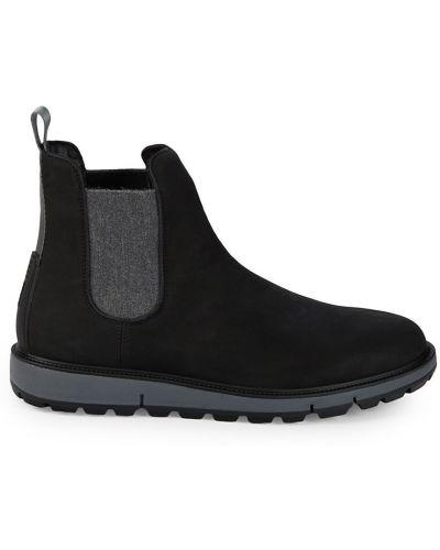 Кожаные ботинки челси - черные Swims