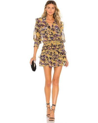 Фиолетовое платье с карманами с заплатками из вискозы Misa Los Angeles