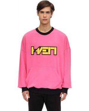 Prążkowana różowa bluza Haervaerk