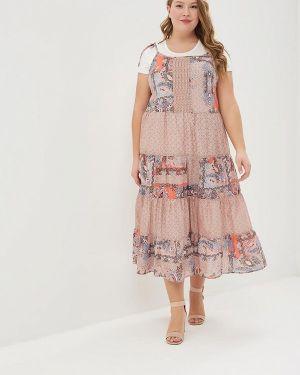 Платье платье-сарафан бежевое Averi