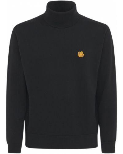 Czarny sweter z haftem Kenzo
