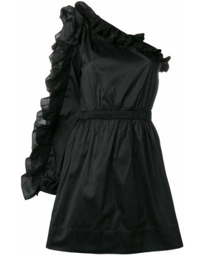 Платье с поясом на одно плечо с оборками Ulla Johnson