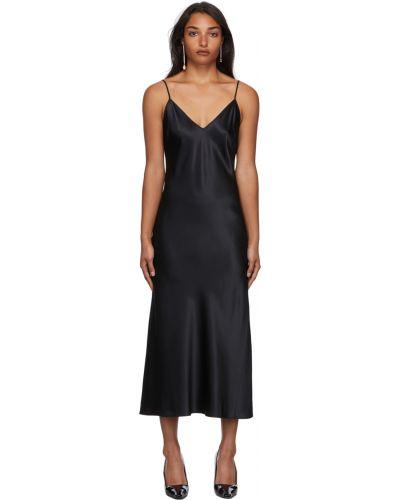 Шелковое платье - черное Joseph