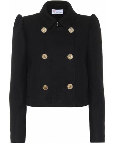 Шерстяной черный пиджак Redvalentino