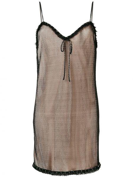 Платье на бретелях шелковое Miu Miu