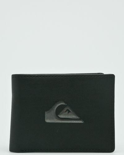 Черный кошелек кожаный Quiksilver