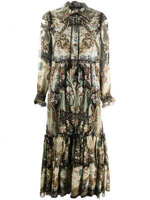 Платье макси длинное - черное Etro