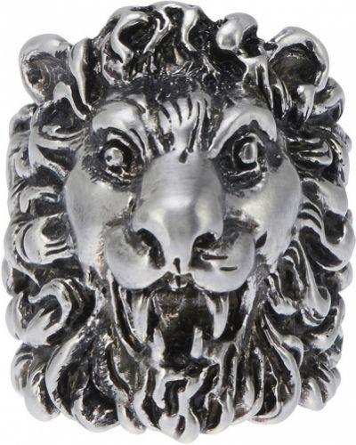 Кольцо серебряного цвета Gucci