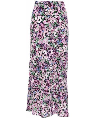 Spódnica midi z jedwabiu z printem w kwiaty Bec & Bridge