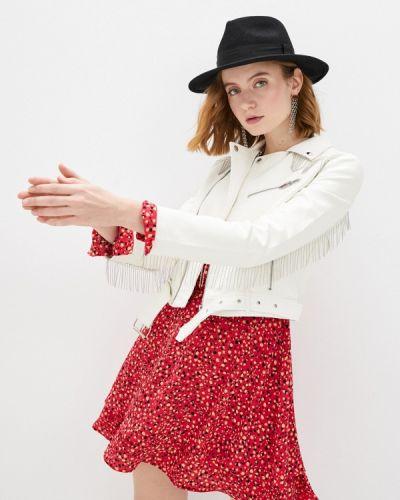 Белая кожаная куртка Izabella