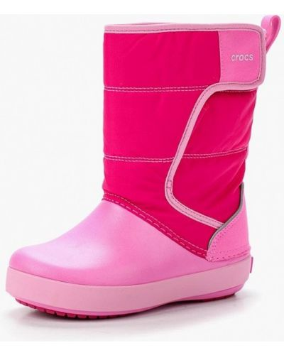 Розовые дутики Crocs