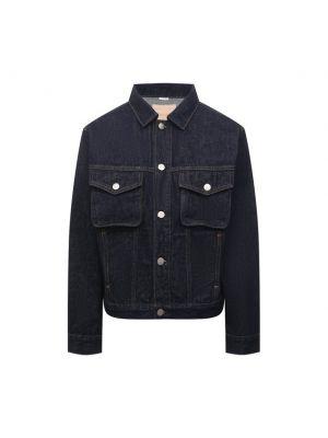 Хлопковая джинсовая куртка - синяя Calvin Klein Jeans