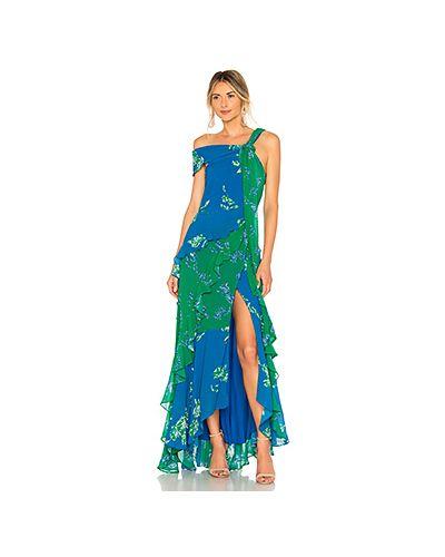 Платье с поясом каскадное на молнии Tanya Taylor