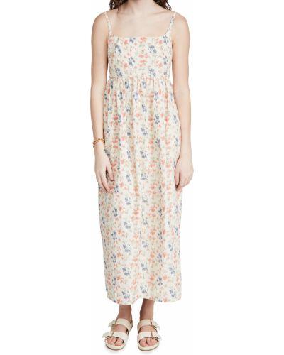 Платье без рукавов с подкладкой в цветочный принт Rebecca Taylor