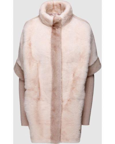 Норковая полушубок - розовая Florence Mode