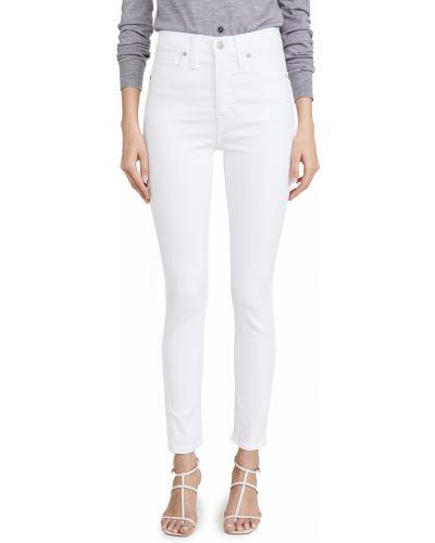 Джинсовые зауженные джинсы - белые Madewell