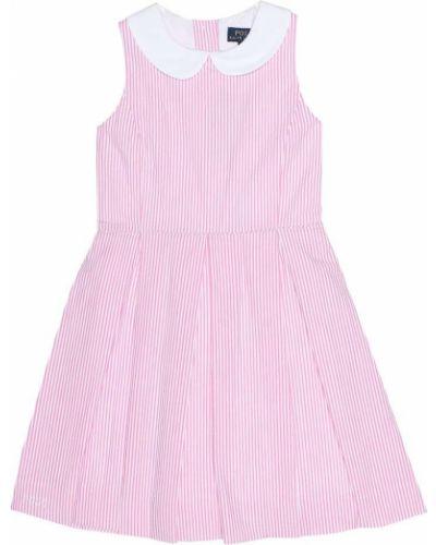Платье розовое в полоску Polo Ralph Lauren Kids