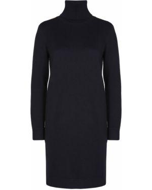 Шерстяное платье макси - черное Hugo Boss