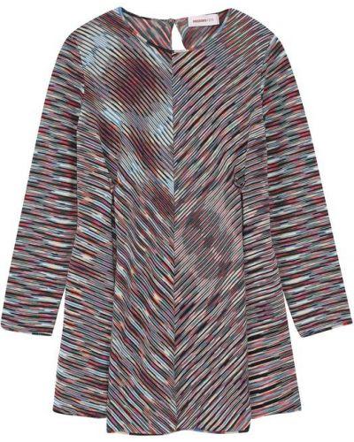 Платье мини с принтом шерстяное Missoni