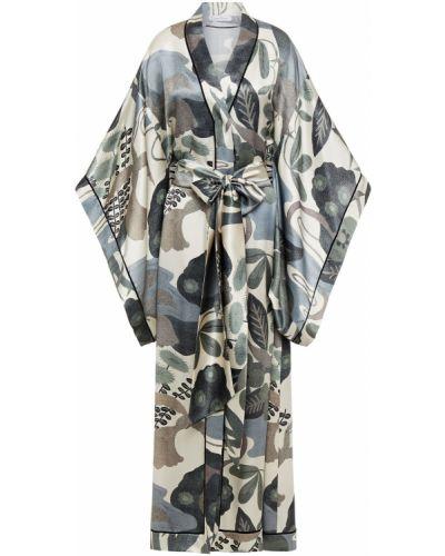 Шелковый халат Carine Gilson