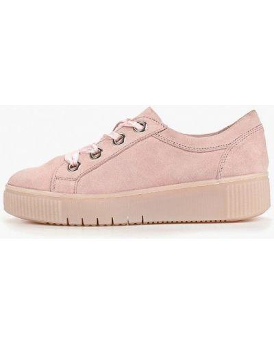 Низкие кеды замшевые розовый Bata