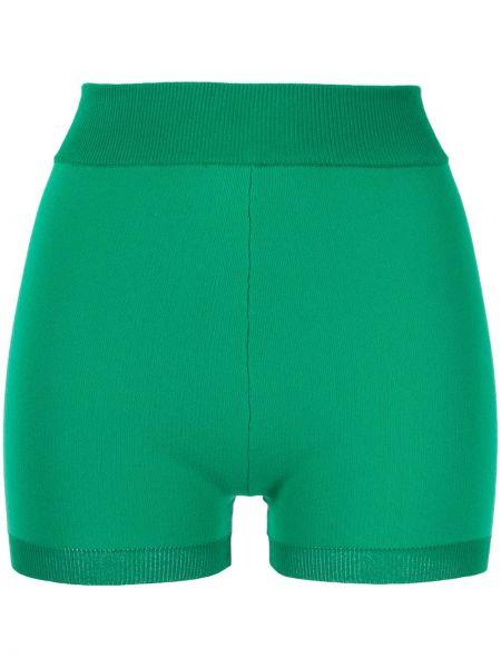 Zielone krótkie szorty z wysokim stanem bawełniane Nagnata