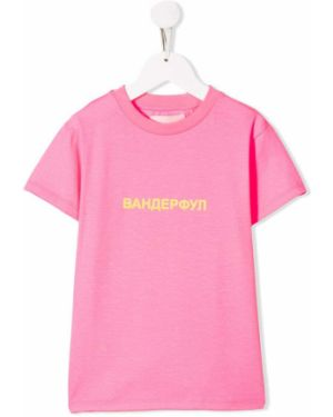 Розовая футболка Natasha Zinko Kids