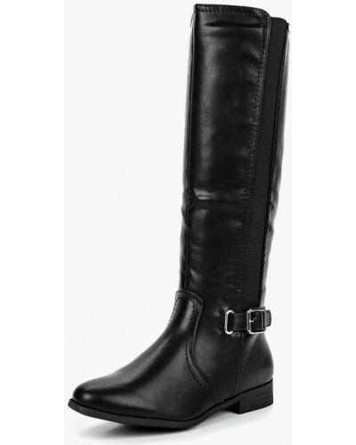 Кожаные сапоги осенние черные Style Shoes