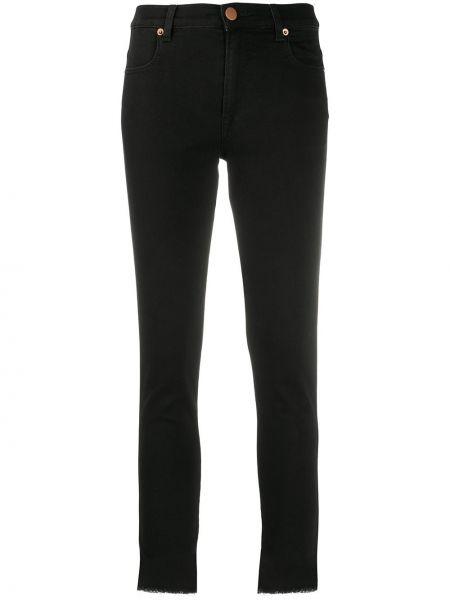 Хлопковые черные джинсы-скинни на пуговицах скинни Pt01