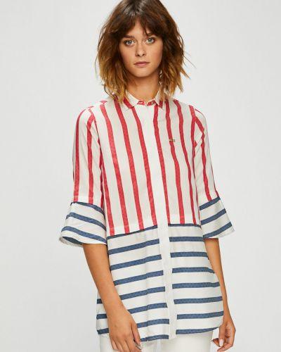 Блузка с длинным рукавом в полоску из вискозы U.s. Polo