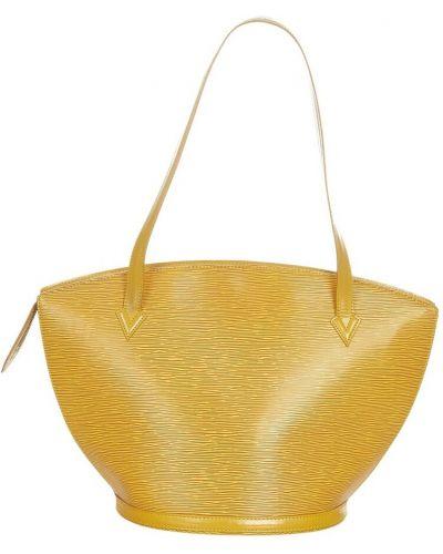 Żółty pasek skórzany Louis Vuitton Vintage
