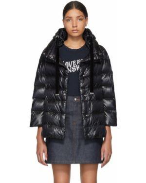 Куртка с капюшоном черная бархатная Herno